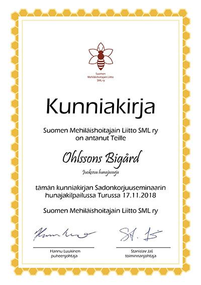 Ohlssons bigård Kunniakirja